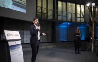 Alexander Damiano Ricci and Katharina Kloss presenting Cafébabel at A Soul for Europe Conference 2016 | Picture: seesaw-foto.com